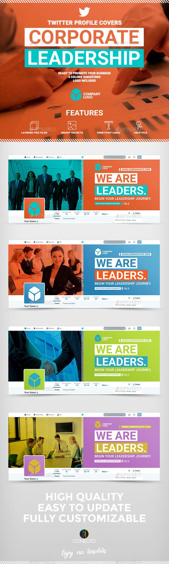Twitter Profile Covers - Corporate Leadership
