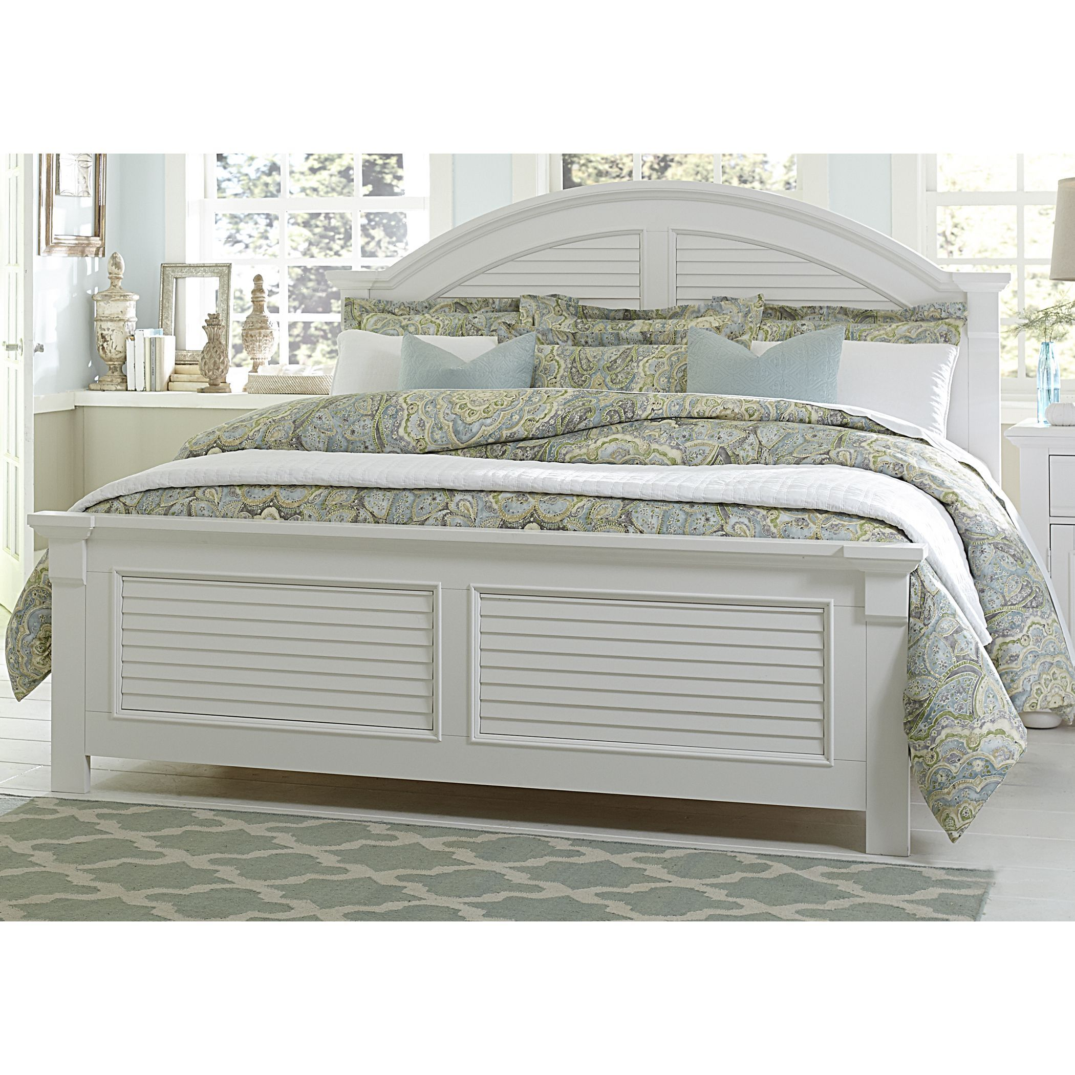 Summer House Oyster White Cottage Panel Bed In 2019