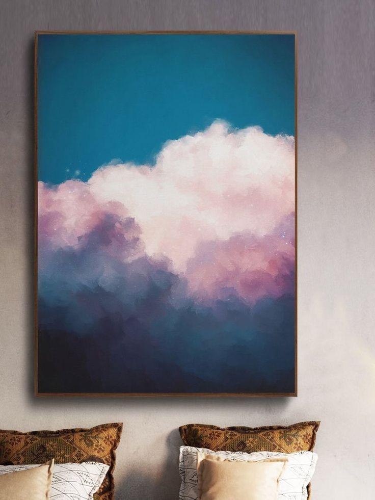 """Canggu I"" Cloud Painting"