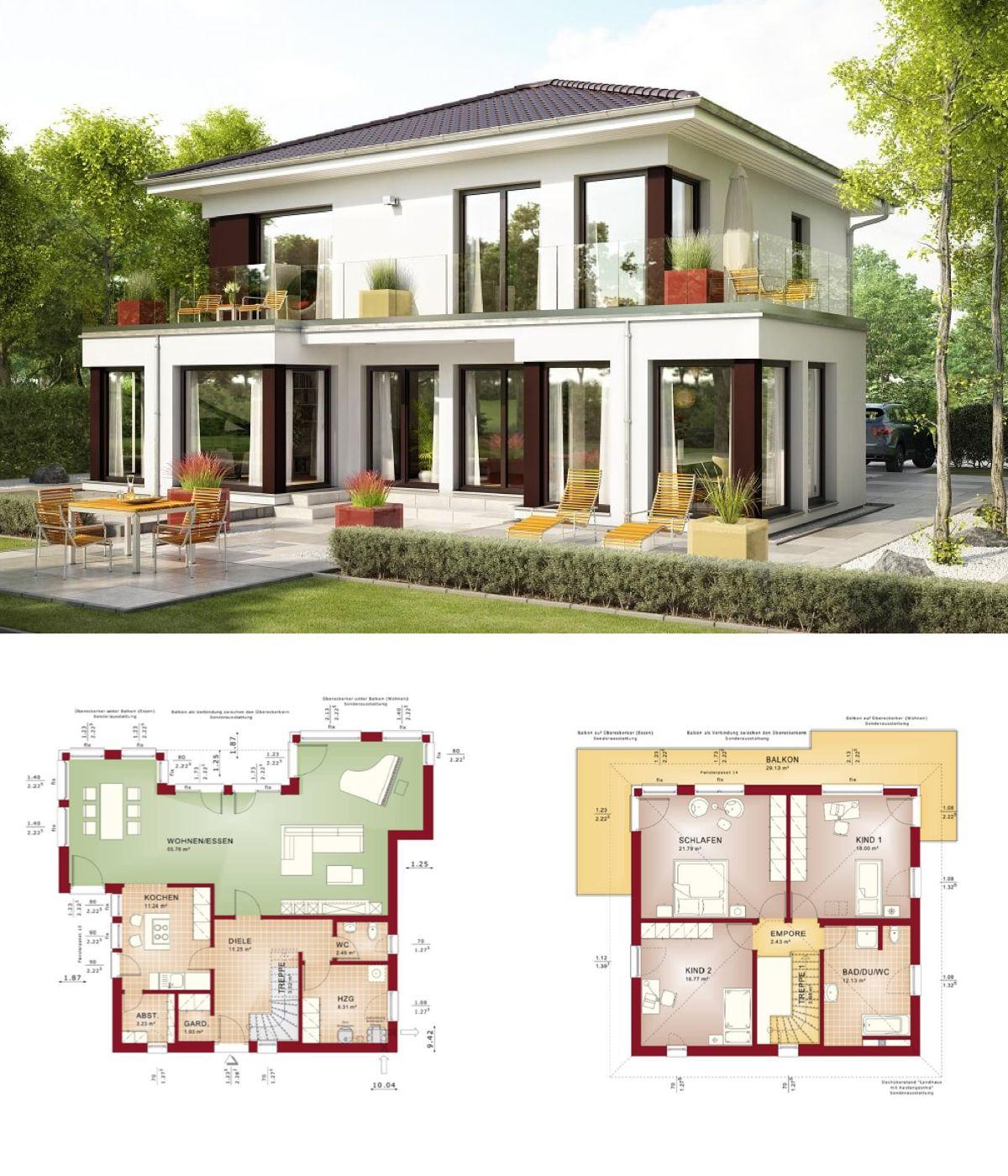 Einfamilienhaus evolution 154 v10 bien zenker fertighaus for Einfamilienhaus modern walmdach