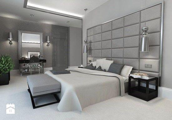 Sypialnia Glamour W Szarościach Zdjęcie Od Design Store