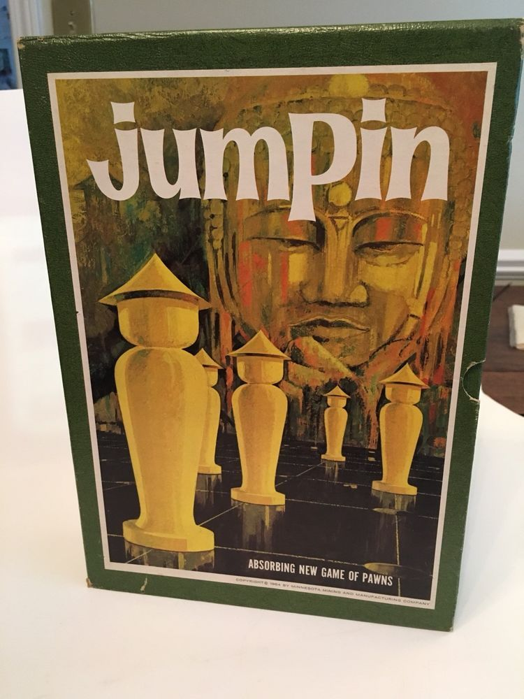 3M bookshelf game JUMPIN 1964 very good condition COMPLETE vintage