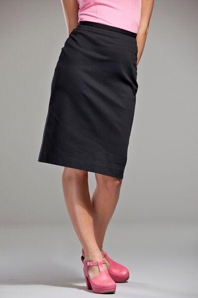 c57b30157a9551 Emmy jupe crayon noire | All About Style | Jupe, Coton noir et Noir