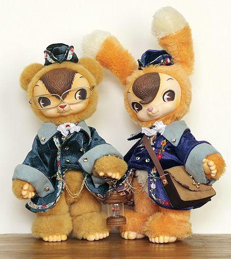 ToysField's KUMA & USAGI by warusoneko, via Flickr