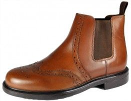 cc047a6964a Oaktrak Appleby Mens Chestnut Brown Slip On Chelsea, Ankle Boots ...