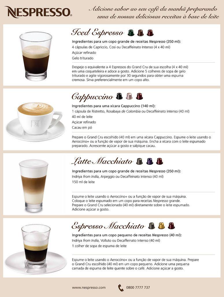 Receitas Nespresso Nespresso Recipes Coffee Recipes Espresso Drinks