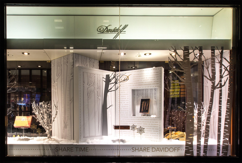 Davidoff NYC - Holiday window design | Window Displays