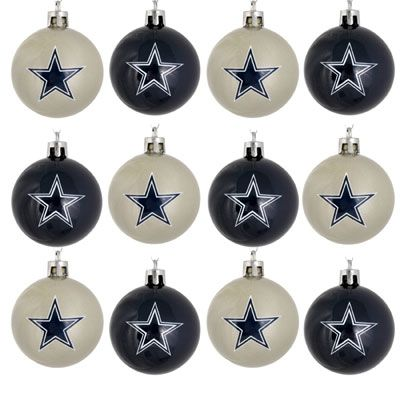 Dallas Cowboys 12 Pack Mini Plastic Ball Ornament Set Dallas Cowboys Christmas Ornaments Dallas Cowboys Christmas Dallas Cowboys Decor