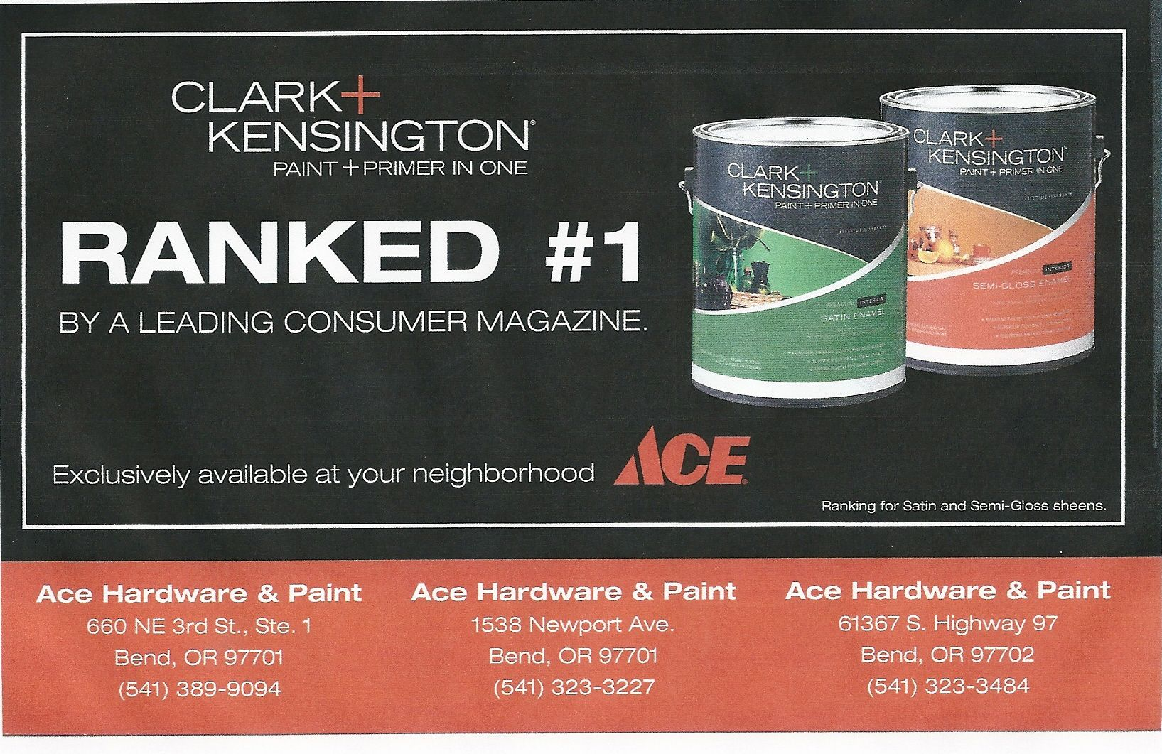 Ace clark kensington paint ranked 1 by consumer reports magazine