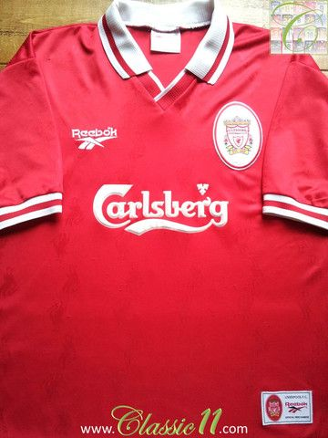 f7bc3329a Relive Liverpool s 1996 1997 season with this vintage Reebok home football  shirt.
