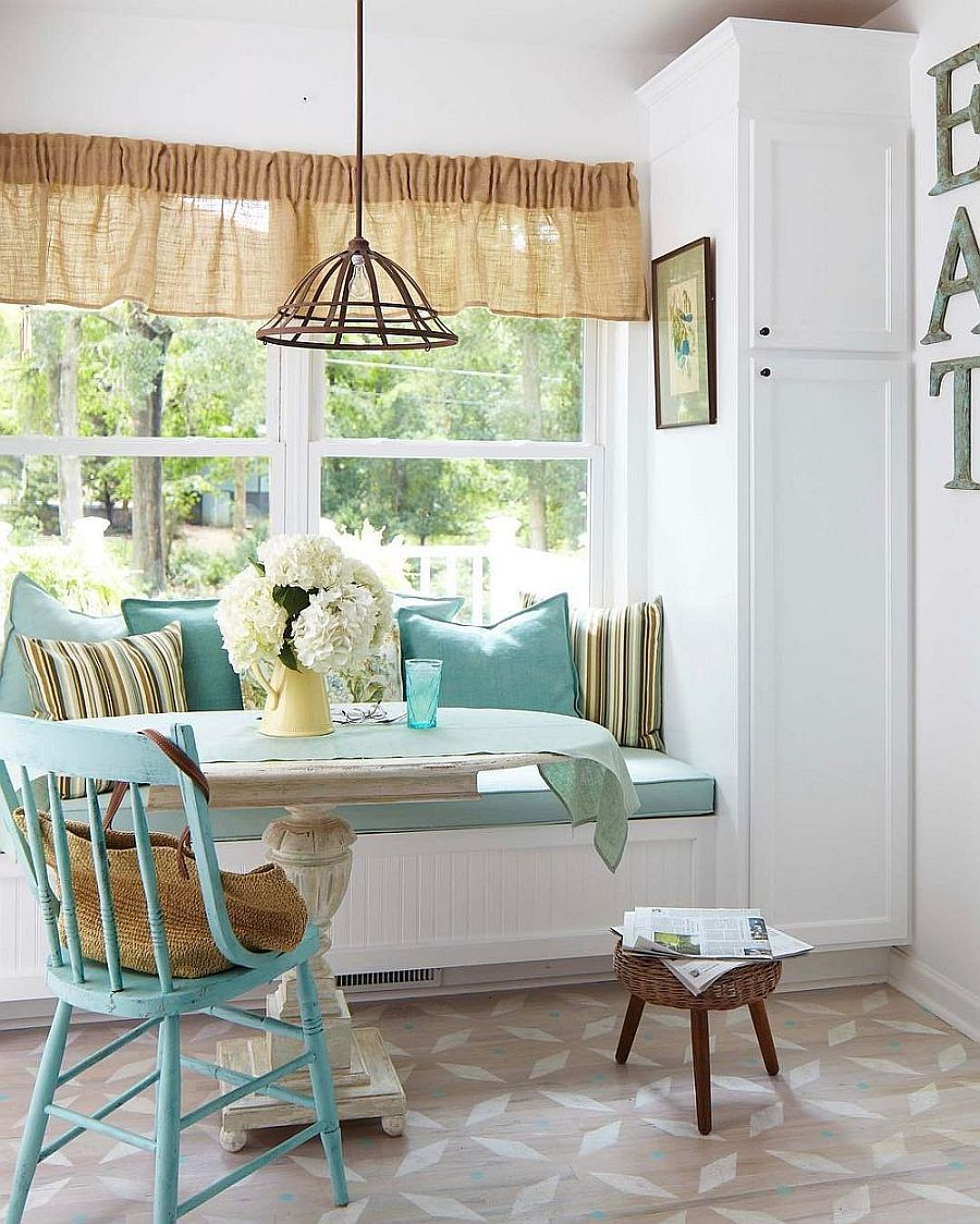 20 Tiny Breakfast Nooks For Two With Spacesaving Goodness New Window Seat In Dining Room Decorating Design