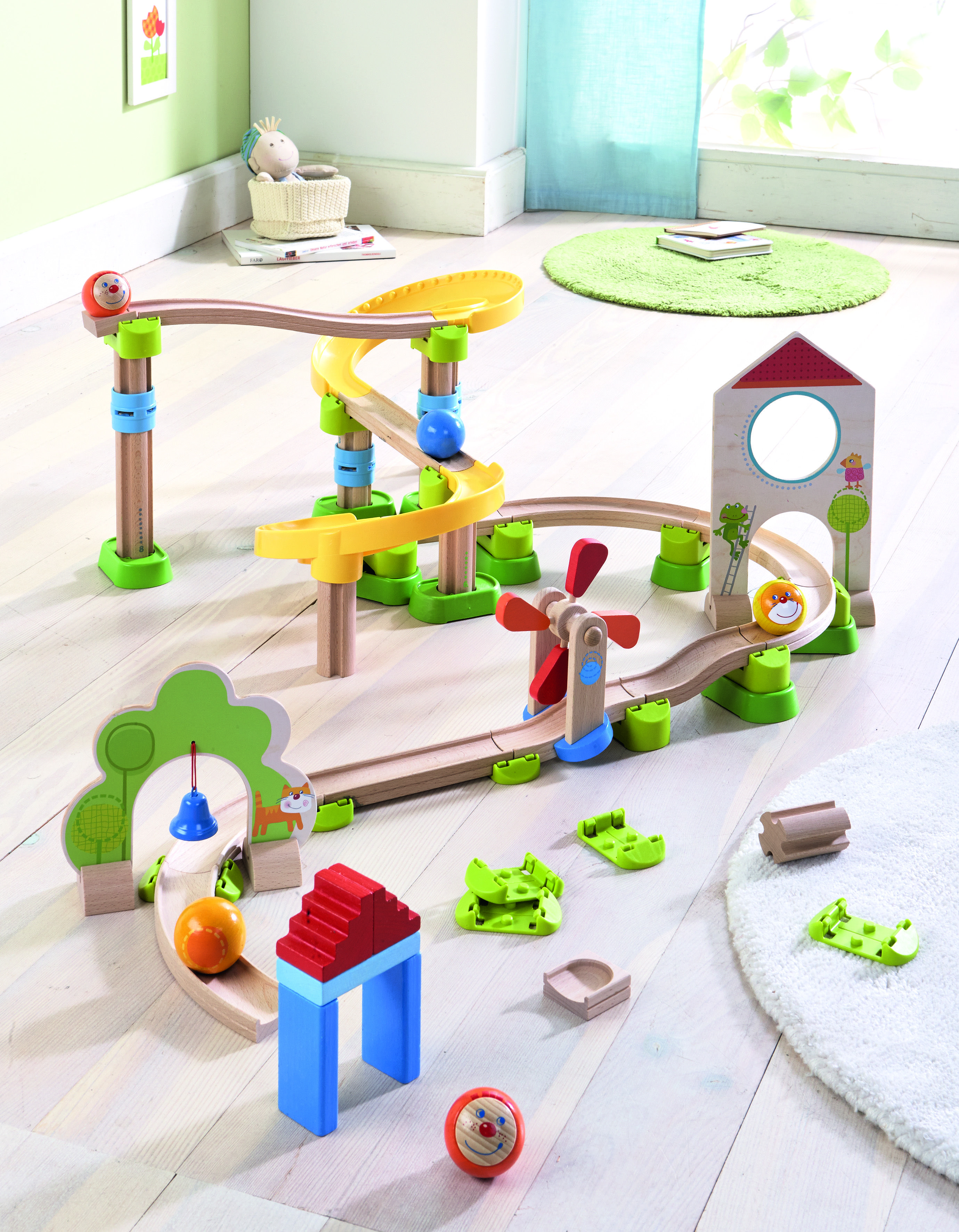 Haba Rollerby ball tracks suitable from just 2 years of age and challenging enough for 8 year olds. This exciting range of ball tracks by Haba is packed with mesmerising features and fun.
