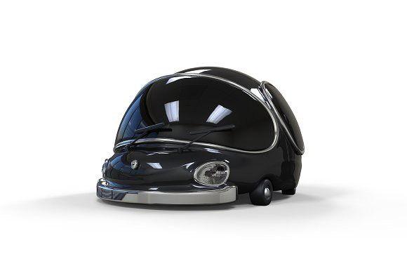3D cartoon black car . Objects. $5.00