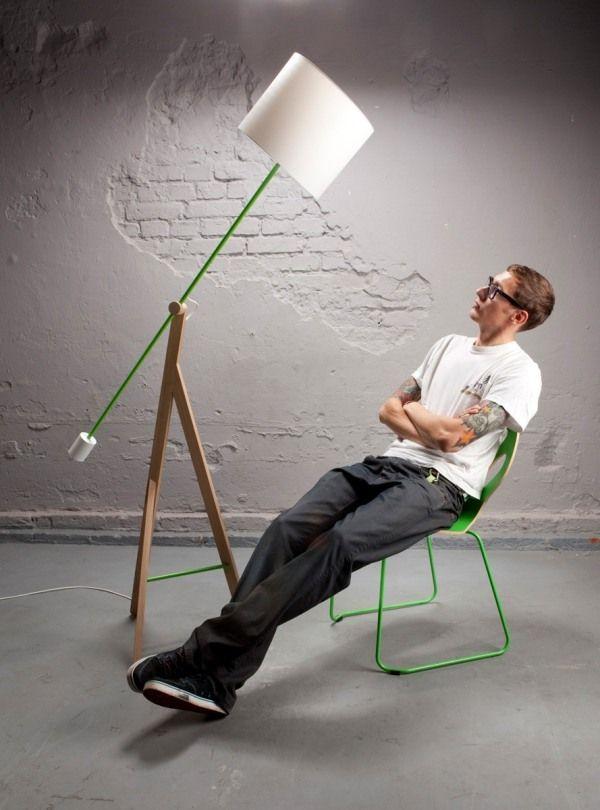 Designer Stehleuchte Wohnideen Wohnzimmer-Arbeitsplatz   leuchten ...