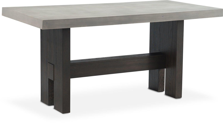 Malibu Rectangular Counter Height Concrete Top Table   Umber