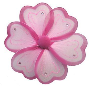 """Hanging Flower 8"""" Medium Pink Painted Nylon Flowers Decorations Decorate Baby…"""
