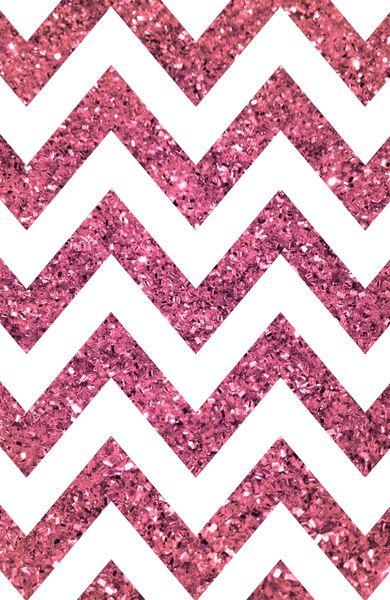 Glitter Sparkle Glow Pink Chevron IPhone Wallpaper