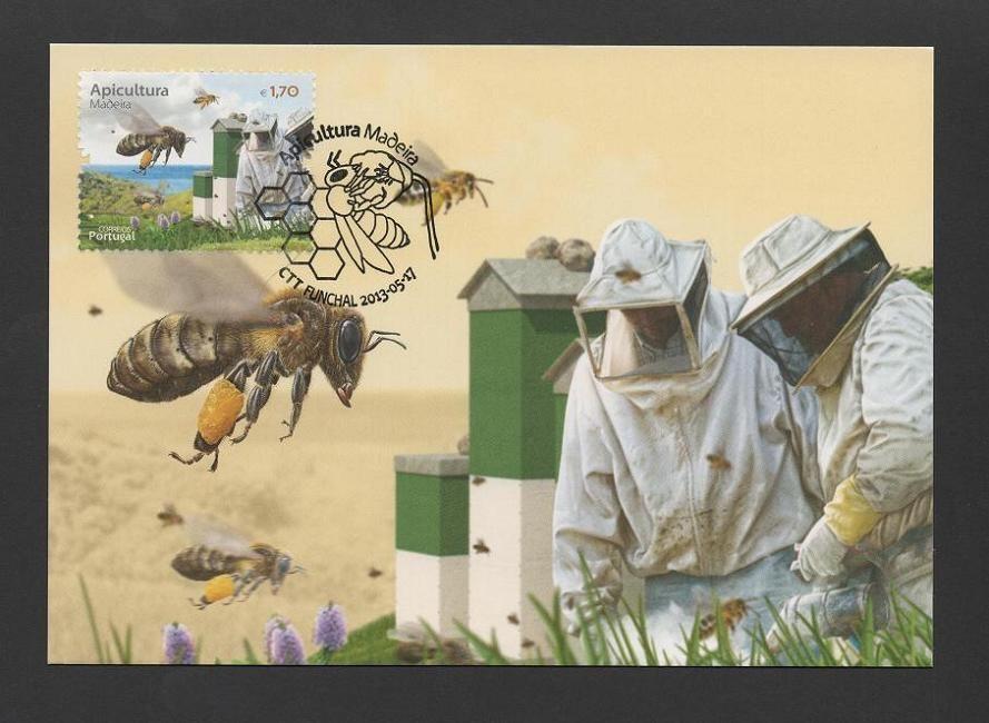 - MAXIMUM CARD 2013 - PORTUGAL - MADEIRA ISLAND BEEKEEPING BEES HONEY APICULTURE