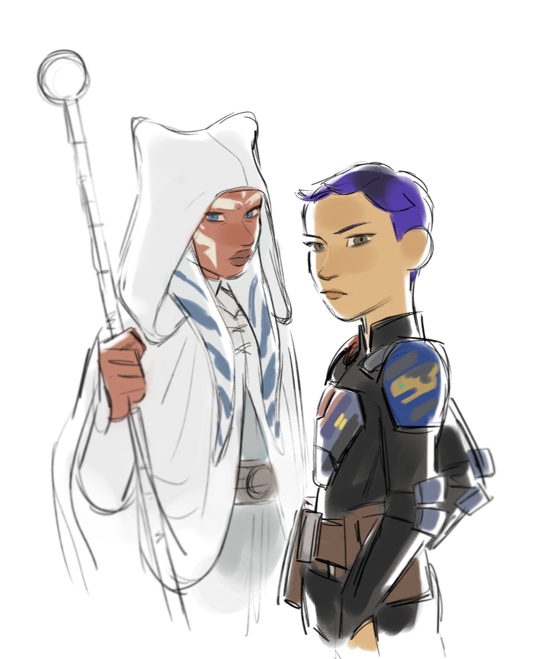 o — rebels finale doodles i want rey and old ahsoka to ... How Old Is Princess Leia In Star Wars Rebels