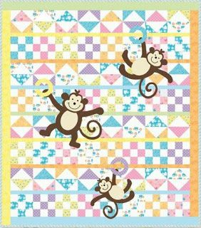 Quilt Inspiration: Free pattern day: Baby quilts ! (part 1 ... : monkey quilt pattern - Adamdwight.com