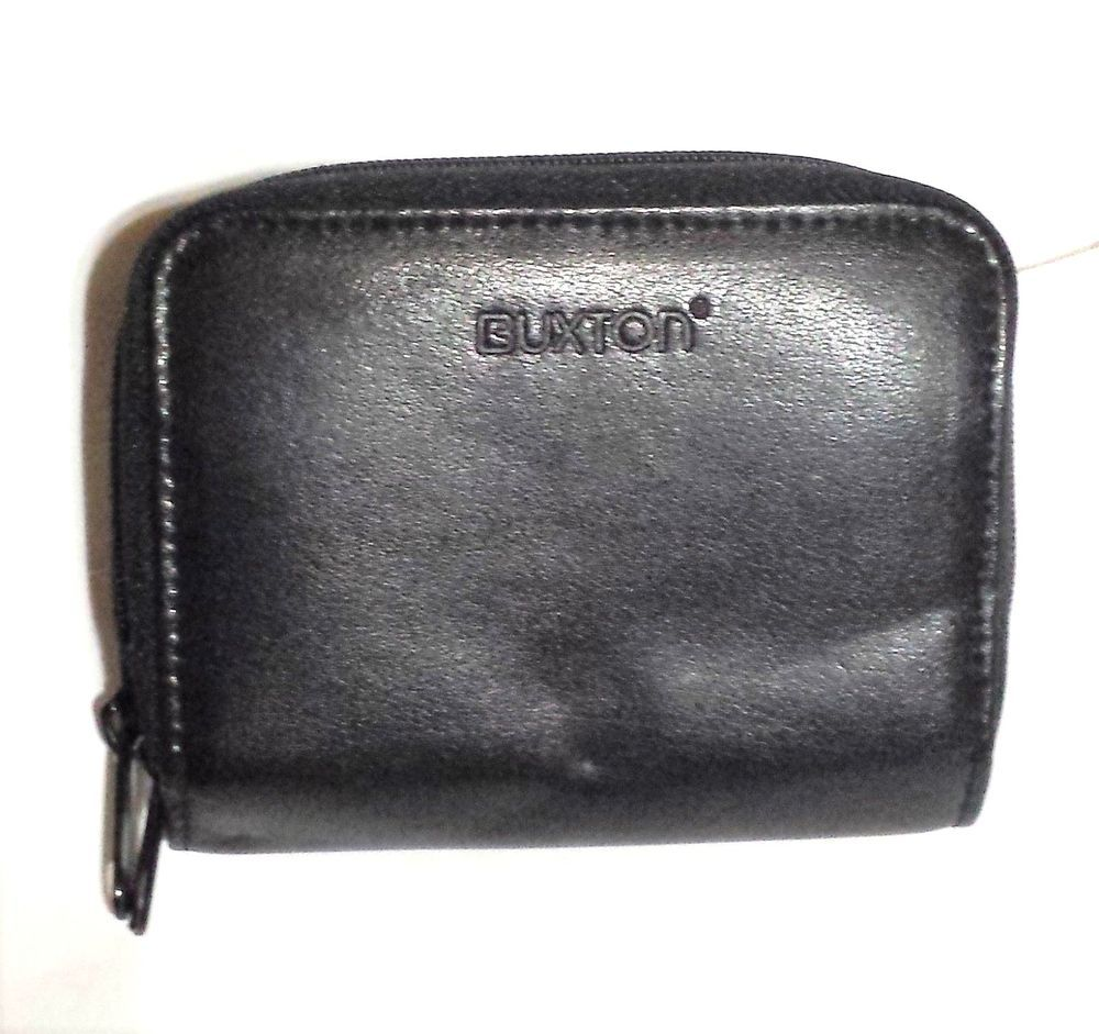 Buxton Genuine Leather Business Card Holder - Case - Black - Free ...