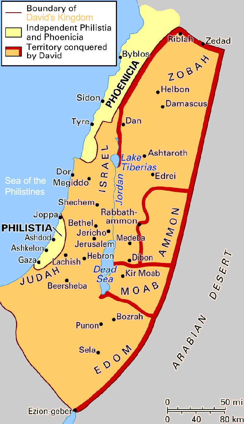 The time period from Joshua to King David