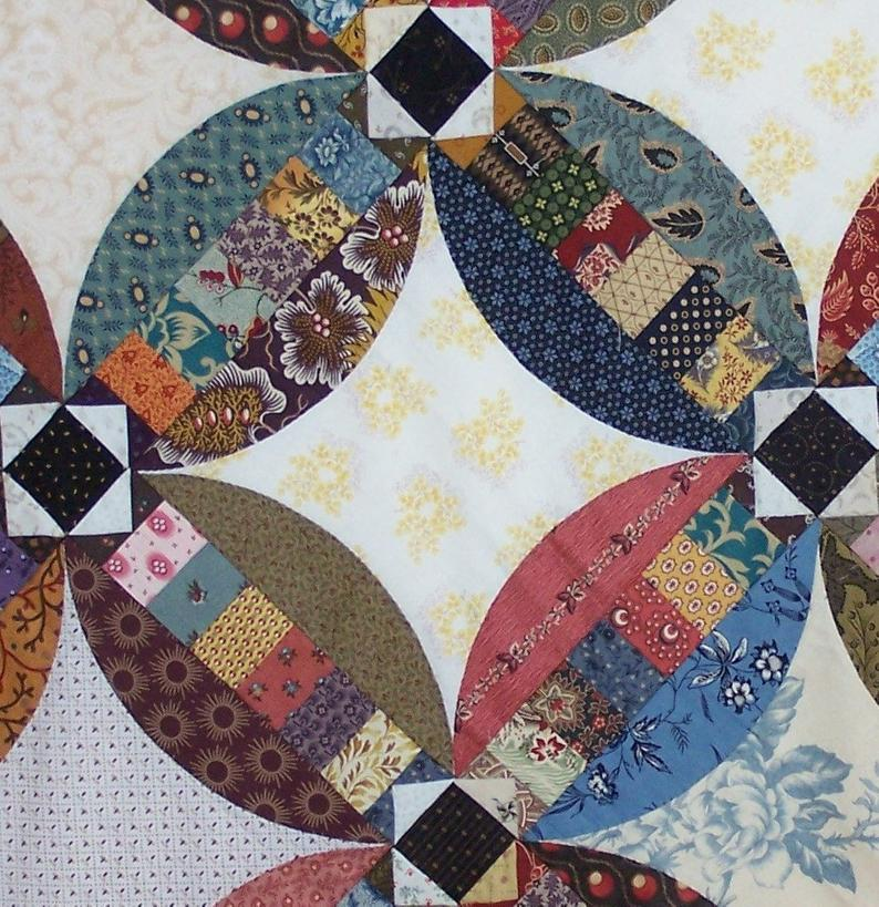 Faux Wedding Ring Quilt Pattern Etsy In 2020 Wedding Ring Quilt Circle Quilt Patterns Quilt Patterns