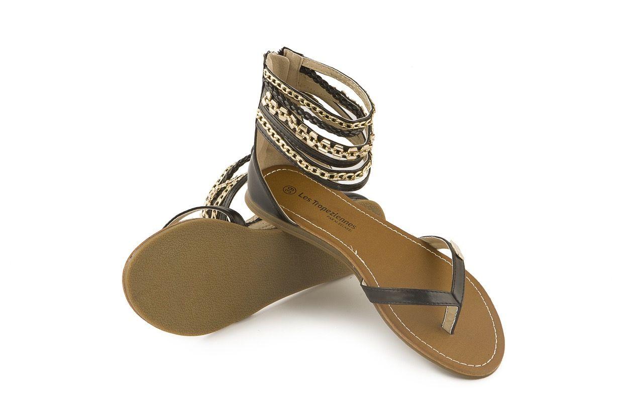 Sandalo gladiatore peltro con catene e zip posteriore Les Tropeziennes www. calzaveste.it 98a8b88fd13a