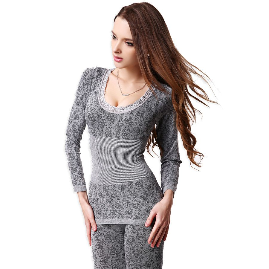 Women tunic winter thermal underwears fashion seamless breathable