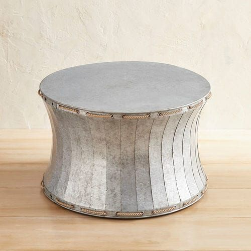 When It Comes To The Cool Factor Our Galvanized Metal Drum Table