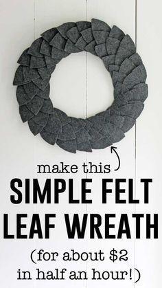 Photo of Simple DIY felt leaf wreath