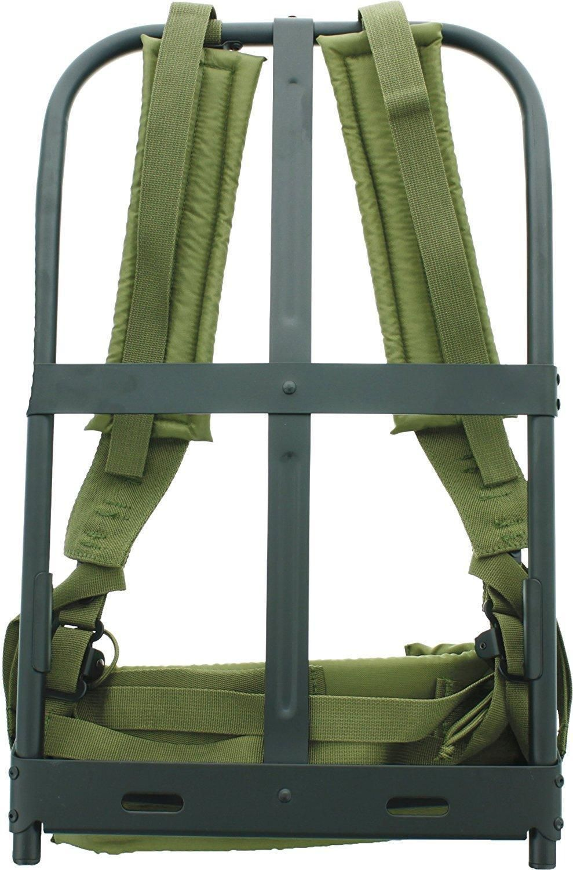 New Black Military Alice Pack Frame With Olive Drab Suspender Straps Lc 1 Ebay Black Metal Frame Suspender Military