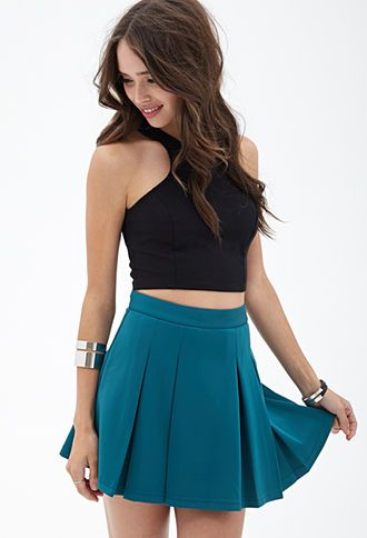5925759721 Scuba Knit Skater Skirt | FOREVER21 - 2055879586 | Butt Holders ...