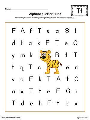 Alphabet Letter Hunt Letter T Worksheet Color Worksheets