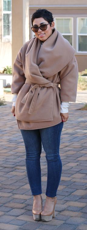 DIY Oversized Camel Jacket Mimi G.
