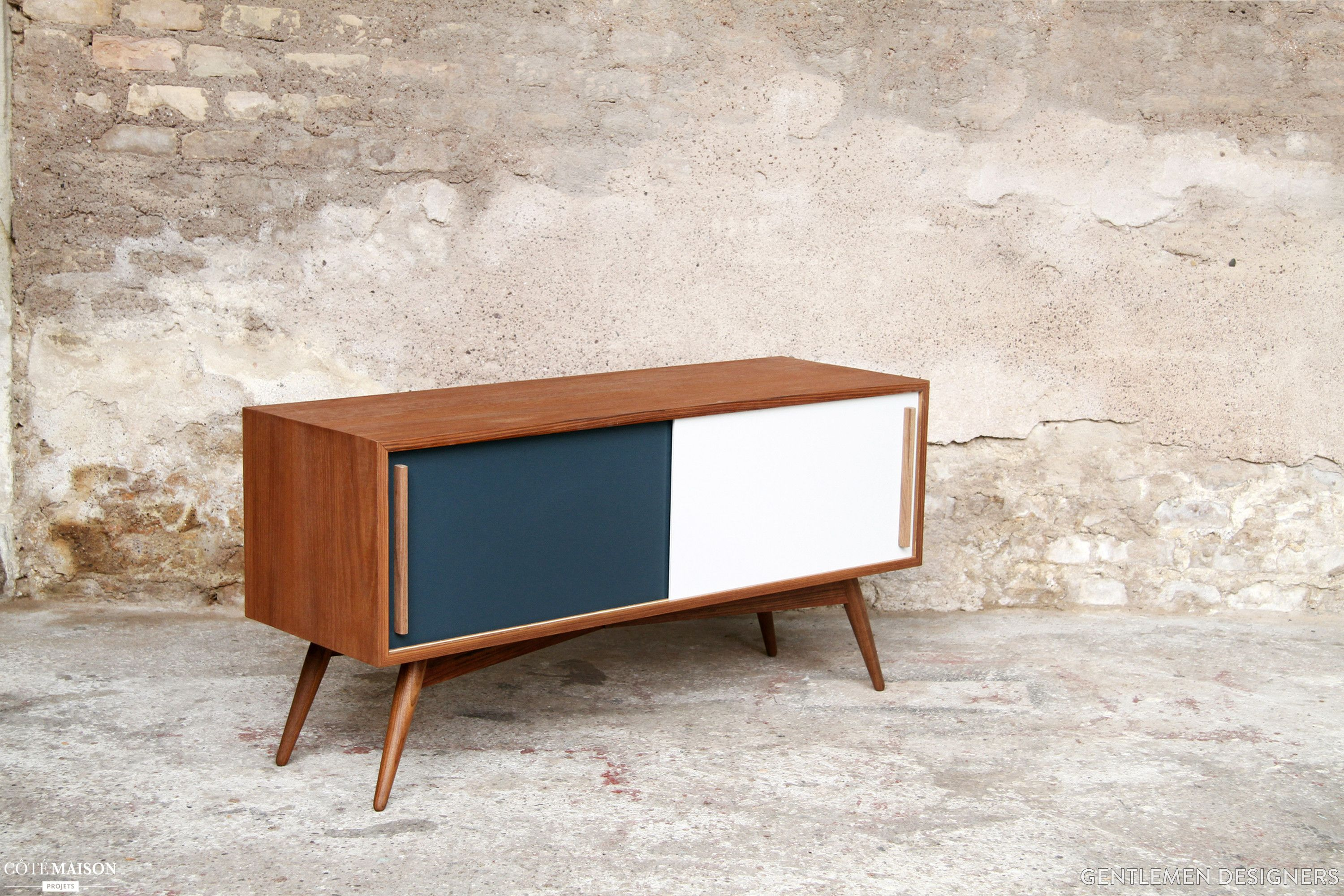 Meuble Tv Made In Design Teak Furniture Tv Hifi Tailor Made In France Gentlemen Designers