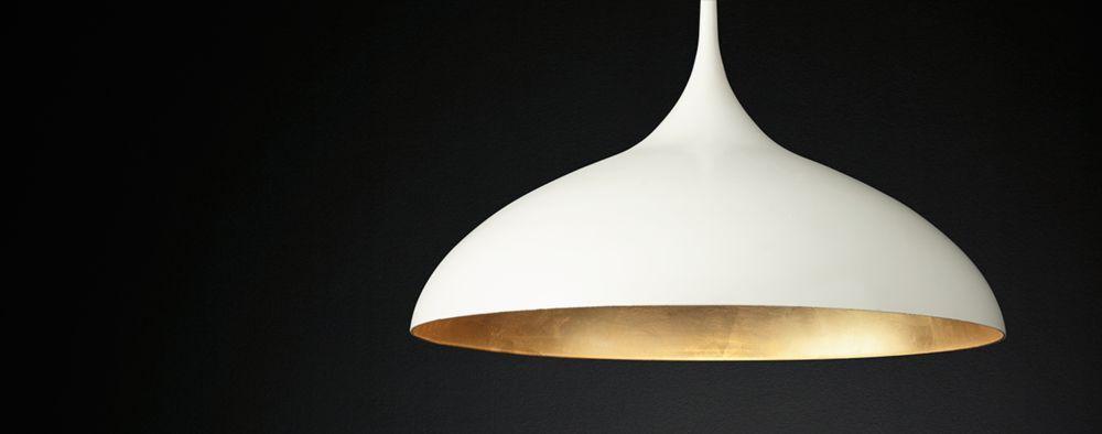 Agnes Pendant Plaster White & Gilded | RH Modern