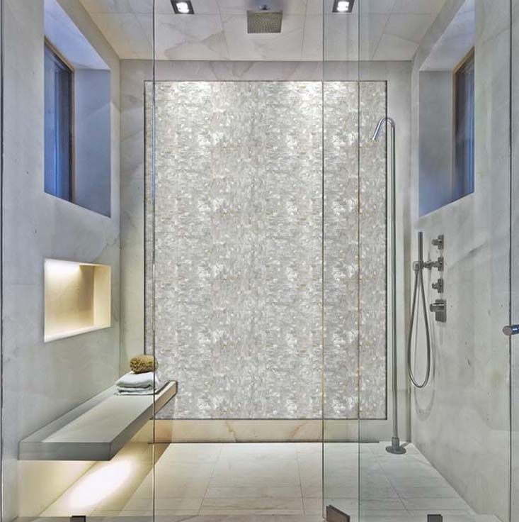 Mother Of Pearl Tile For Shower Wall Sticker St077