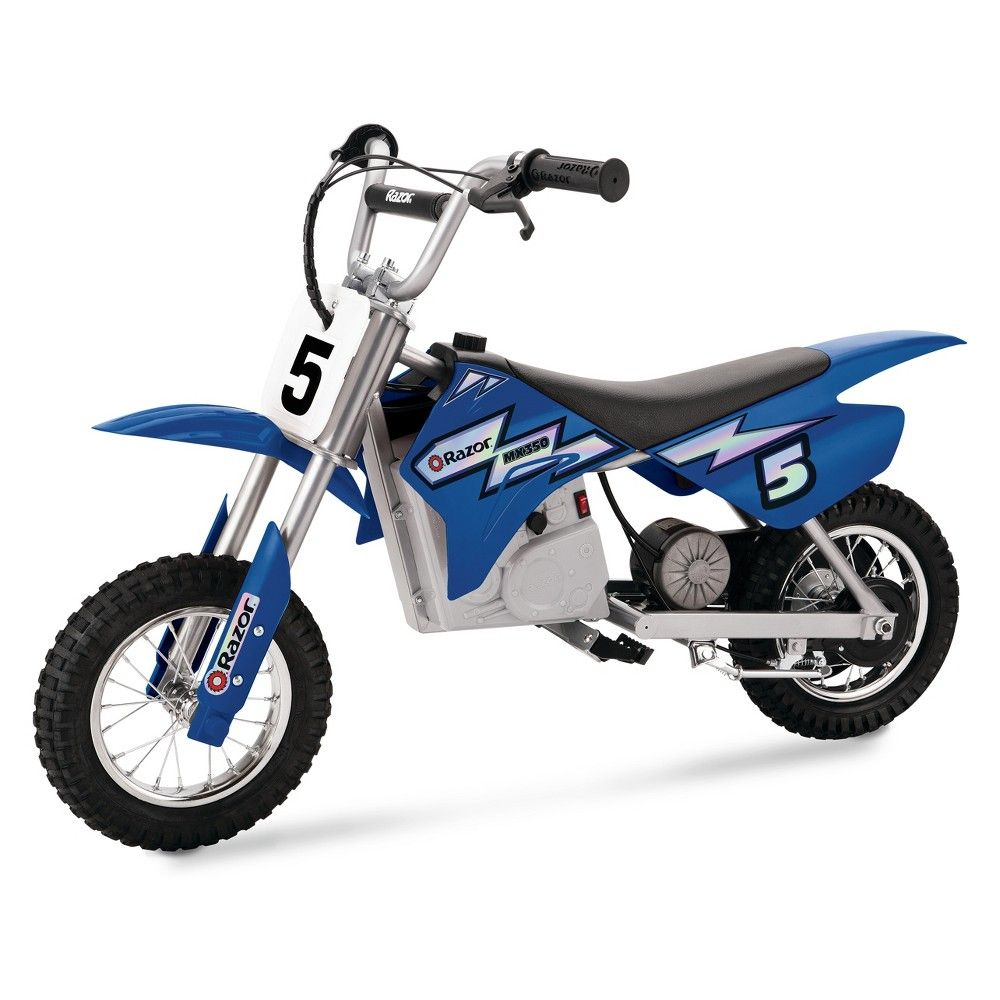 Razor Mx350 24 Volt Dirt Rocket Electric Motocross Bike Blue With Images Dirt Bikes For Kids Motocross Bikes Electric Dirt Bike