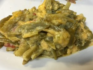 Cheesy Green Bean Casserole - Ketovangelist Kitchen #greenbeancasserole