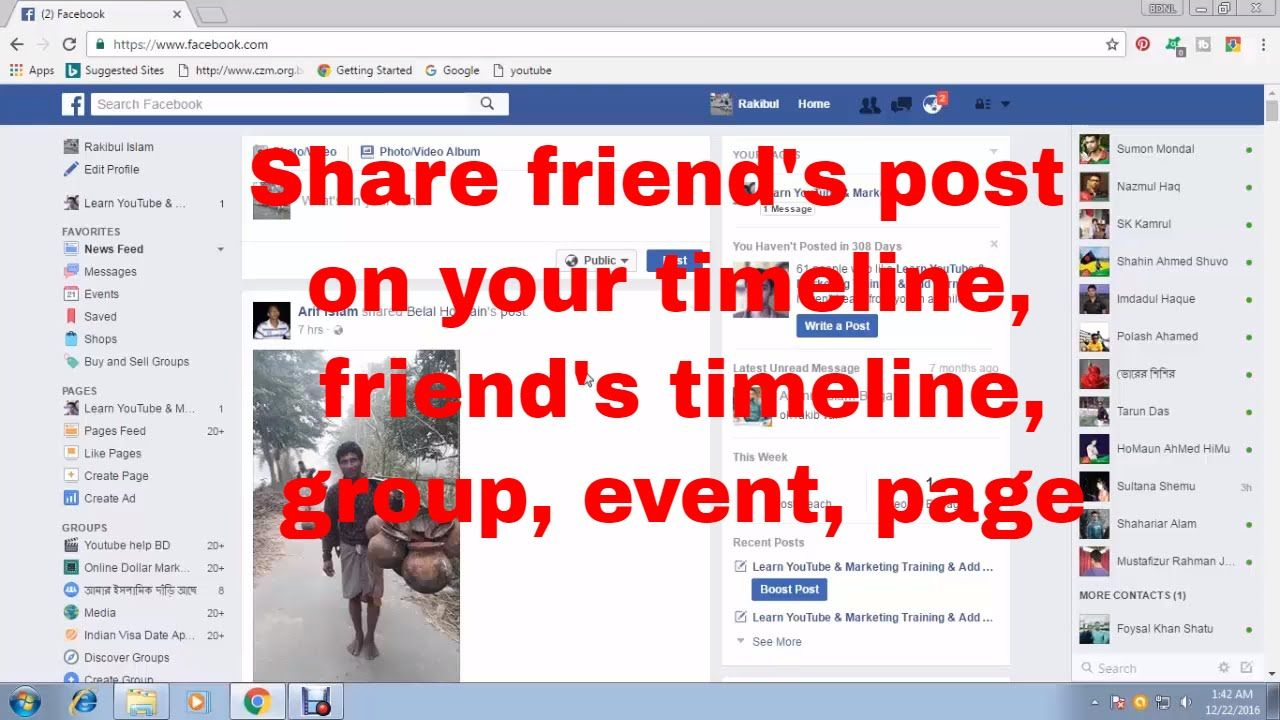 How To Share FriendS Post On Your Timeline Group Event