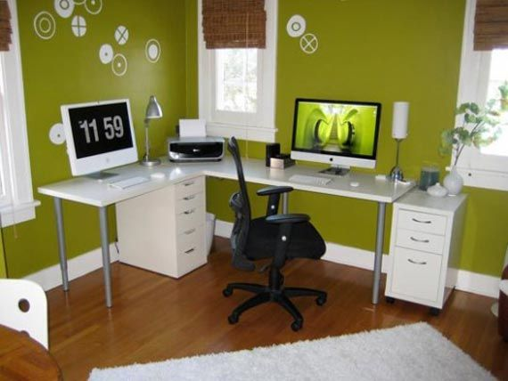 Minimalist Cozy Green Home Office Design Ideas Home Pinterest