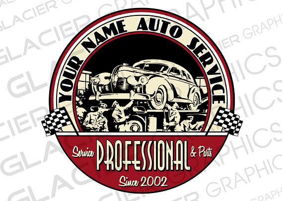 Custom Vintage Auto Shop Logo Custom Auto Body Logo Custom Auto