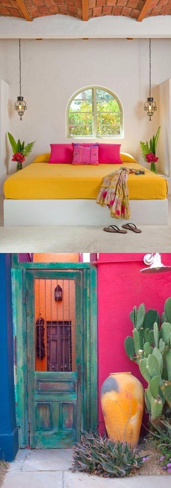 Linda decoración con estilo mexicano / https://barnandwillow.com ...