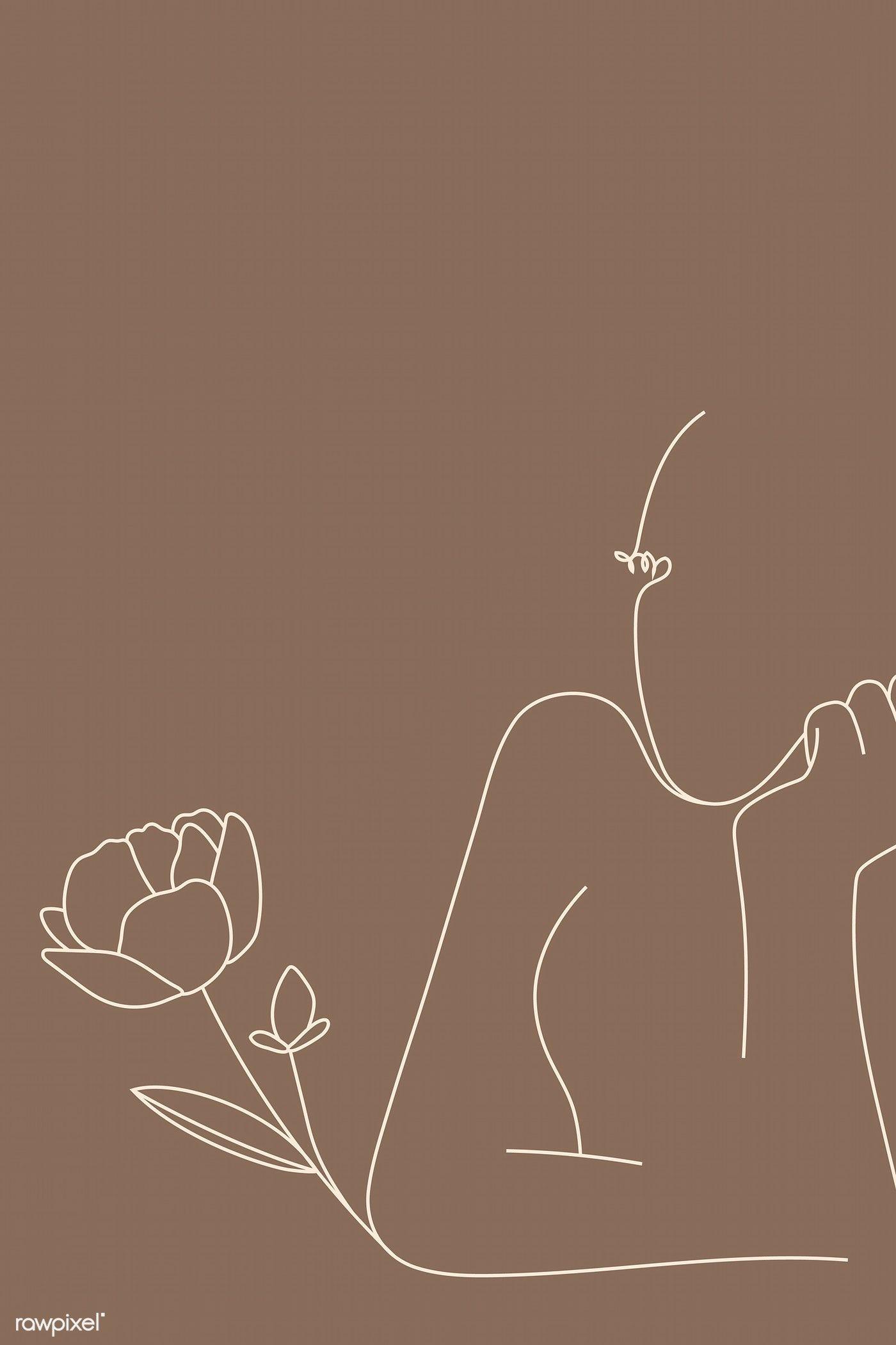 Download premium vector of Feminine line art vector 2044522