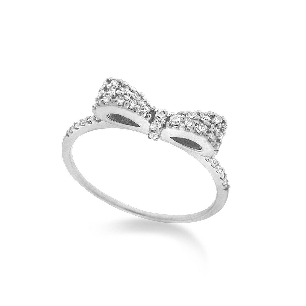 KC Designs White Gold Diamond Bow Ring