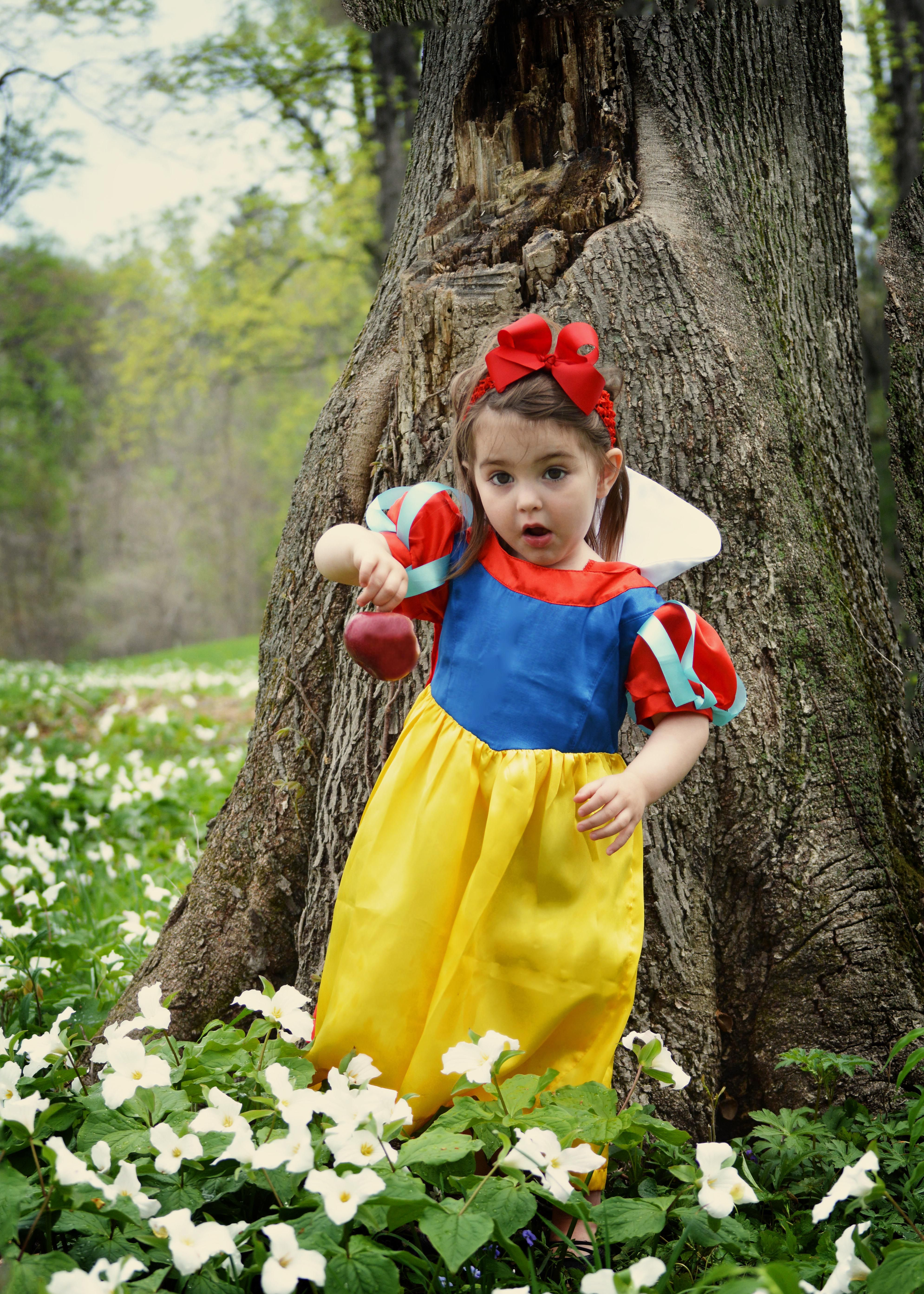 Snow White Fairy Tale Photo Shoot. 2 Year Old Girl As Snow