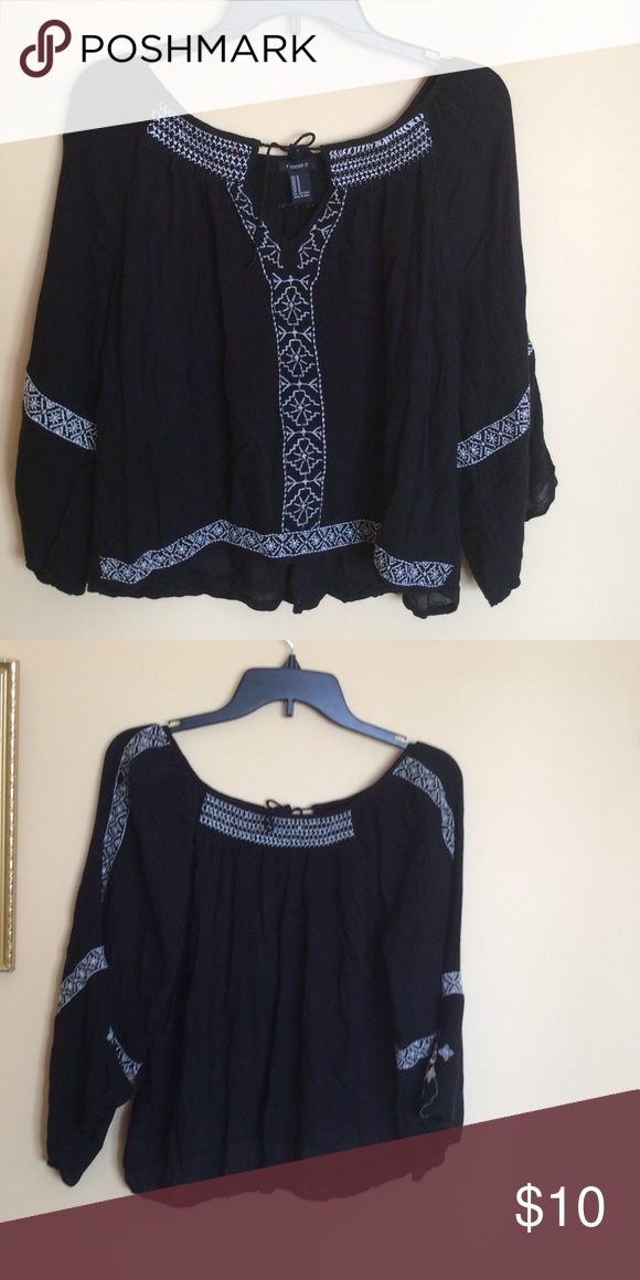 Blouse Black blouse gently worn Forever 21 Tops Blouses