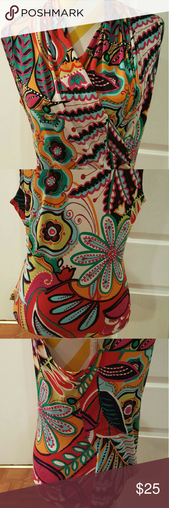Jon Den colorful top Small Jon Den colorful top   size Small  In great condition Jon Den  Tops Blouses