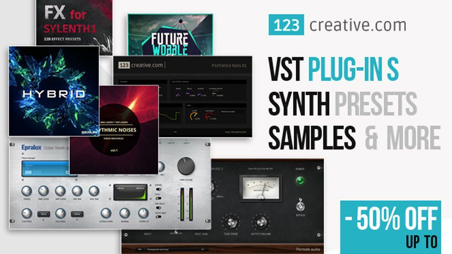 123creative Black Friday Sale 50 Off Vst S Synth Presets And Samples Electronic Music Synth Presets